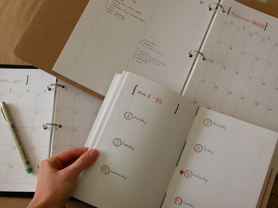 Diy Calendar Binding : Erinzam news archive diy calendar planner now